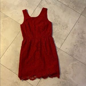 NWT LOFT Outlet Red Lace Dress - Size 00P